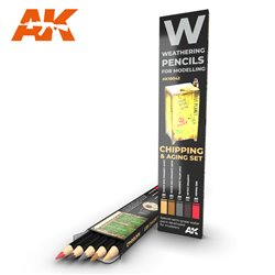 AK INTERACTIVE AK10042 WATERCOLOR PENCIL SET CHIPPING