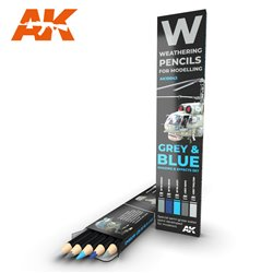 AK INTERACTIVE AK10043 WATERCOLOR PENCIL SET GREY AND BLUE CAMOUFLAGES