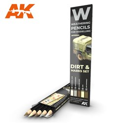 AK INTERACTIVE AK10044 WATERCOLOR PENCIL SET SPLASHES, DIRT AND STAINS