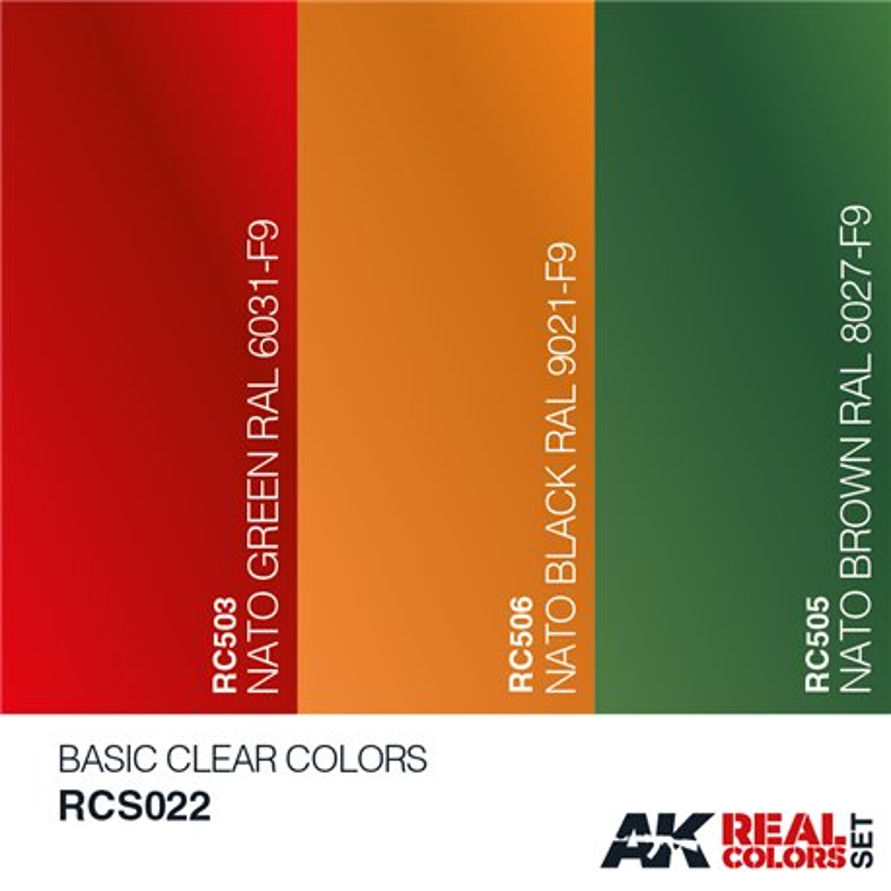 AK Interactive RCS022 BASIC CLEAR COLORS