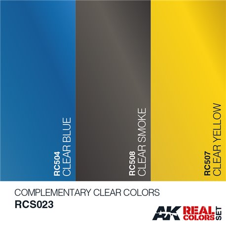 AK Interactive RCS023 COMPLEMENTARY CLEAR COLORS