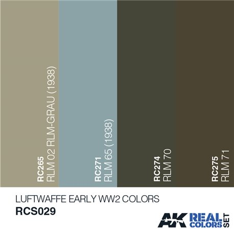AK Interactive RCS029 LUFTWAFFE EARLY WW2 COLORS