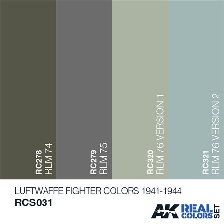 AK Interactive RCS031 LUFTWAFFE FIGHTER COLORS 1941-1944