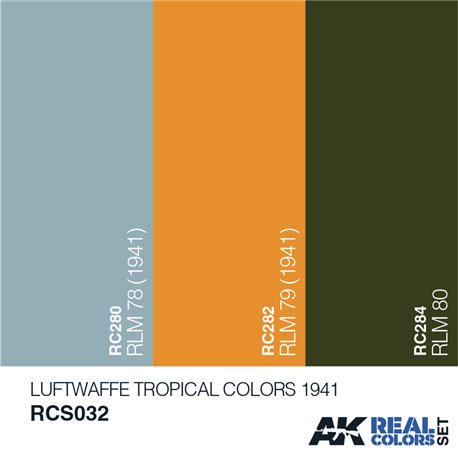 AK Interactive RCS032 LUFTWAFFE TROPICAL COLORS 1941