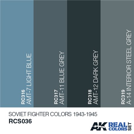 AK Interactive RCS036 SOVIET FIGHTER COLORS 1943-1945