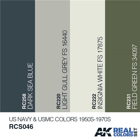 AK Interactive RCS046 US NAVY & USMC COLORS 1950S-1970S