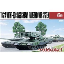 MODELCOLLECT UA72003 1/72 Russian TOS-1A Heavy Flame Thrower System T-90 Chassis