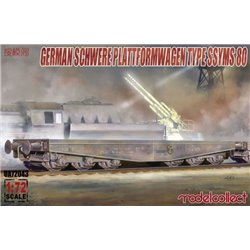 MODELCOLLECT UA72043 1/72 Germany Schwerer Plattformwagen Type SSyms 80