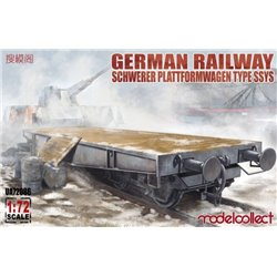 MODELCOLLECT UA72086 1/72 German Railway Schwerer Plattformwagen Type SSys 1+1