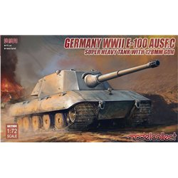 MODELCOLLECT UA72089 1/72 Germany WWII E-100 Heavy Tank Ausf. C with 128mm Gun
