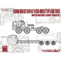 MODELCOLLECT UA72125 1/72 German MAN KAT1 M1014 8*8 High-Mobility Off-Road Truck