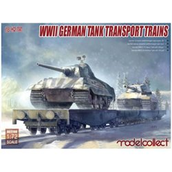 MODELCOLLECT UA72158 1/72 WWII German Tank Transport Trains