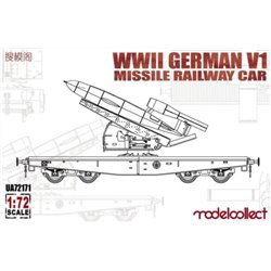 MODELCOLLECT UA72171 1/72 WWII German V1 Missile Railway Car