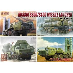 MODELCOLLECT UA72173 1/72 S-300/S-400 Missile launcher,4 in 1
