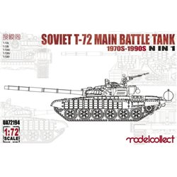 MODELCOLLECT UA72194 1/72 Soviet T-72 Main Battle Tank 1970s-1990s 5 in 1