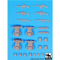 BLACK DOG F35093 1/35 FN-FAL + backpacks Falkland war