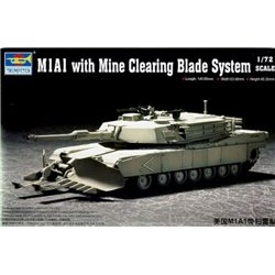 TRUMPETER 07277 1/72 M1A1 with Mine Clearing Blade System