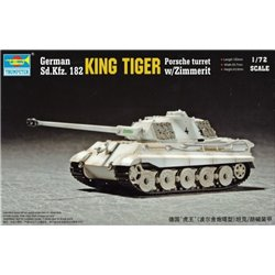 TRUMPETER 07292 1/72 German Sd.Kfz. 182 King Tiger Porsche Turret w/Zimmerit