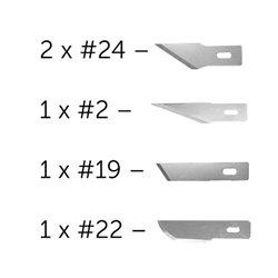 MODELCRAFT PKN2705 Assortiement de Lames - 5 Assorted Blades for 2 & 5 Knife
