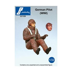PJ Production 321109 1/32 German Pilot seated in a/c (WW1)