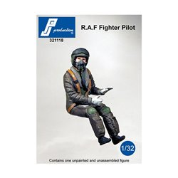 PJ Production 321118 1/32 RAF fighter pilot seated in a/c (modern)