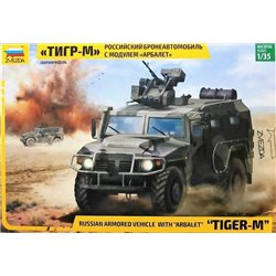 ZVEZDA 3683 1/35 Tigr-M with remote controlled turret Arbalet-DM