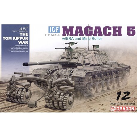 DRAGON 3618 1/35 IDF Magach 5 w/ERA and Mine Roller