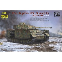 BORDER MODEL BT-001 1/35 Pz.Kpfw.IV Ausf.G Mid/Late 2 in 1