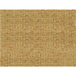 "NOCH 56613 3D Cardboard Sheet ""Clinker"" yellow-multicoloured 25x12.5cm"