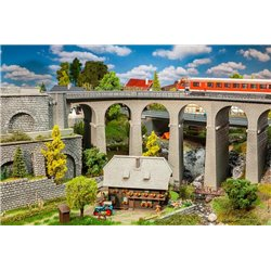FALLER 120466 HO 1/87 Coffret viaduc, 2 voies, courbe - Viaduct set, two-track, curved