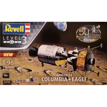 "REVELL 03700 1/96 Apollo 11 ""Columbia"" ""Eagle"" 50th Anniversary Moon Landing"
