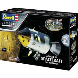 REVELL 03703 1/32 Apollo 11 Spacecraft W/ Interior 50th Anniversary Moon Landing