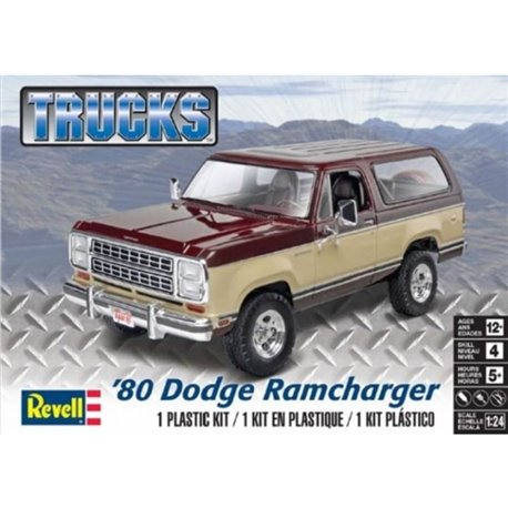 REVELL 85-4372 1/24 '80 Dodge Ramcharger Trucks