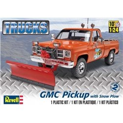 REVELL 85-7222 1/24 GMC Pickup with Snow Plow Trucks