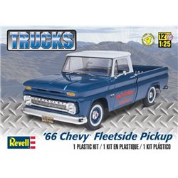 REVELL 85-7225 1/25 '66 Chevy Fleetside Pickup Trucks