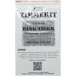 ATAK Model 35068 1/35 Zimmerit King Tiger Porsche Turret For Meng TS037