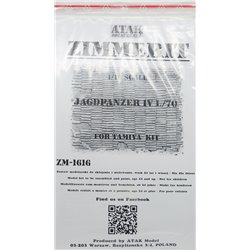ATAK Model ZM-1616 1/16 Zimmerit Jagdpanzer IV L/70 For Tamiya Kit