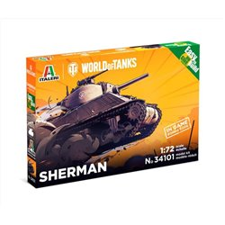 ITALERI 34101 1/72 SHERMAN - WoT - Easy to Build