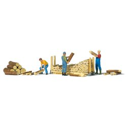 PREISER 10707 HO 1/87 Stacking firewood