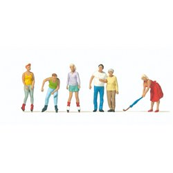 PREISER 10740 HO 1/87 Skaters et Passants – Skaters passers-by