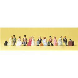 PREISER 12045 HO 1/87 Passagers assis – Seated passengers