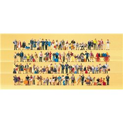 PREISER 13000 HO 1/87 Super-Set Railway personnel, travellers, passers-by