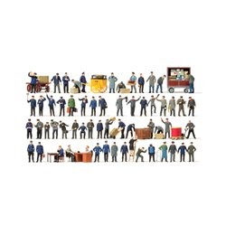 PREISER 13004 HO 1/87 Super Set Figures 60pcs