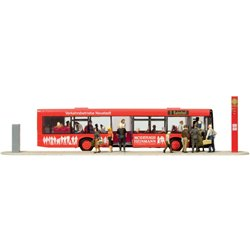 PREISER 13009 HO 1/87 City bus With Travellers