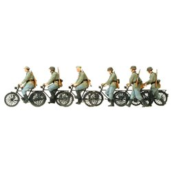 PREISER 16596 HO 1/87 cycling squad riding and walking epoch II