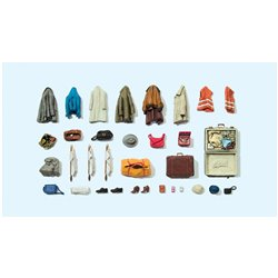 PREISER 17008 HO 1/87 Vêtements Sacs – Clothes, safety vests, bags