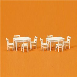 PREISER 17217 HO 1/87 Tables et Chaises – Table Chairs