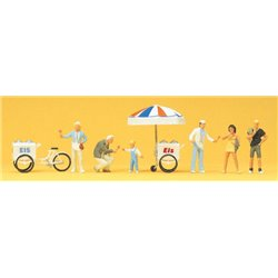 PREISER 24661 HO 1/87 Marchand de Glaces – Icecream selle