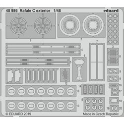 EDUARD 48986 1/48 Photo Etched Dassault Rafale C exterior For Revell