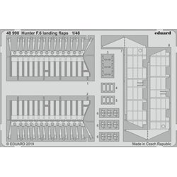 EDUARD 48990 1/48 Photo Etched Hunter F.6 landing flaps For Airfix